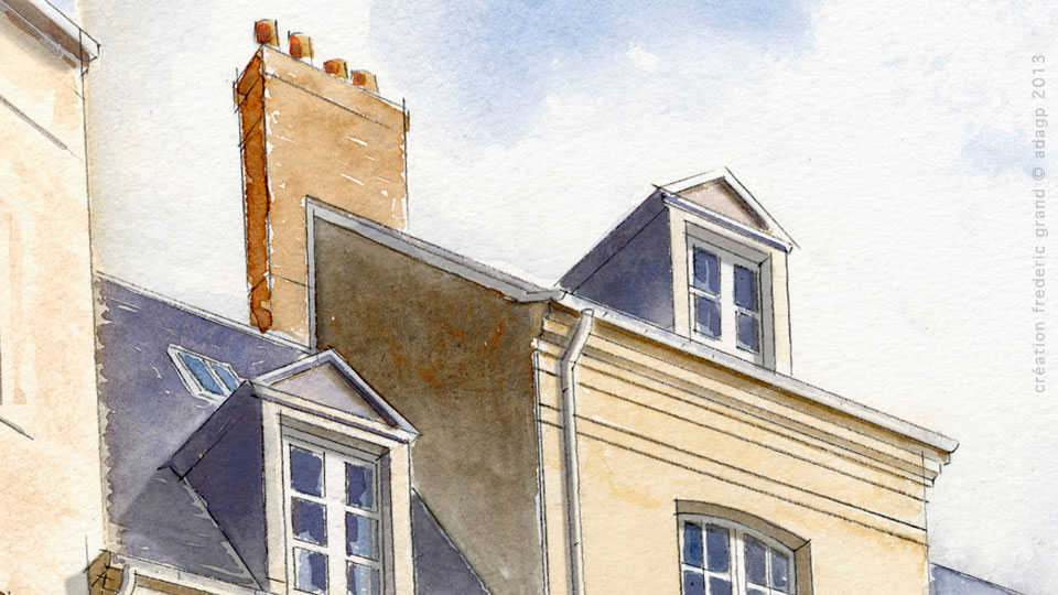 Aquarelle en architecture du patrimoine for Architecte dieppe