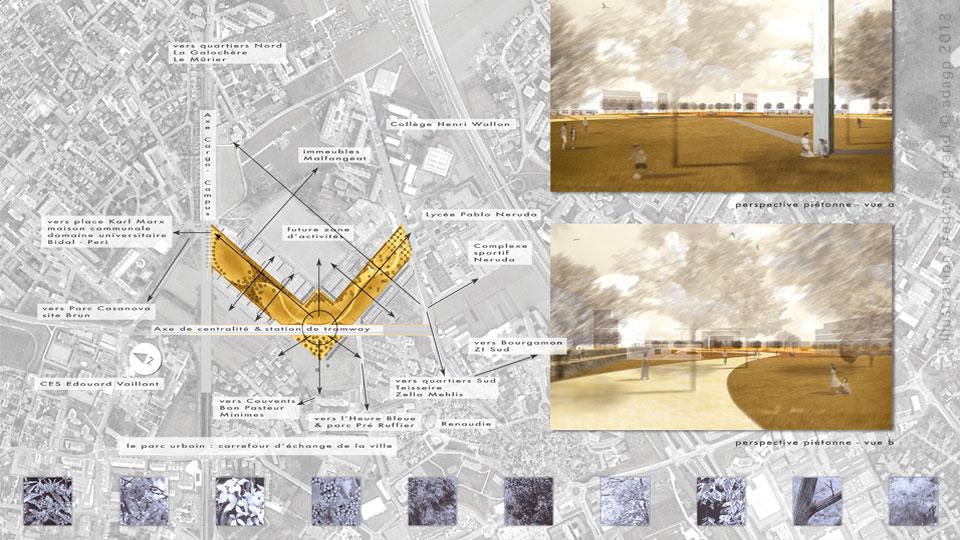 Perspective en architecture panneau for Buro 38 saint martin d heres