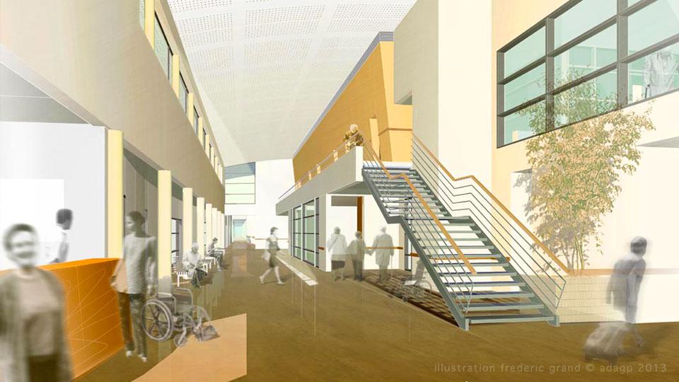 Perspective en architecture panneau for Architecture maison de retraite