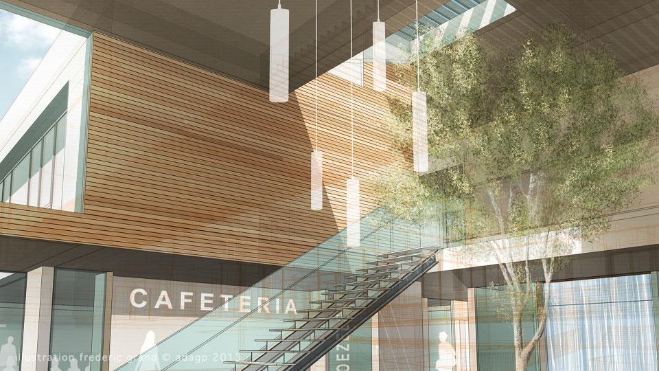 perspective en architecture perspective filaire. Black Bedroom Furniture Sets. Home Design Ideas