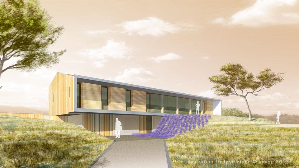 Perspective en architecture perspective filaire - Architecte grenoble maison individuelle ...