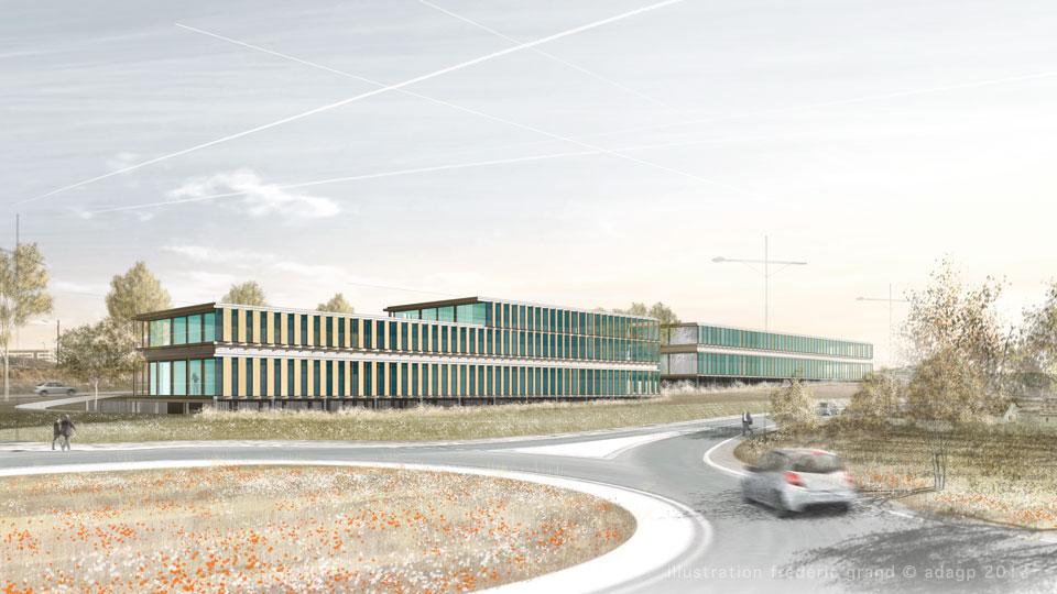 Perspective en architecture perspective r aliste for Architecte paysagiste montpellier