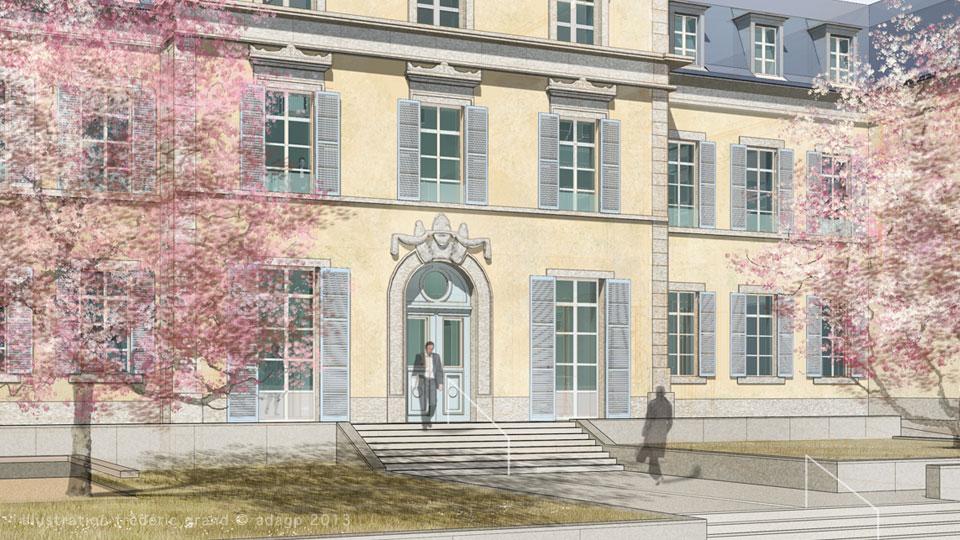 Perspective en architecture perspective r aliste for Piscine de lons le saunier